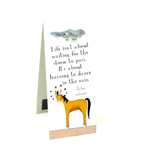 Red Tractor - Crazy Horse Rain Dance - Magnetic Bookmark