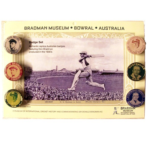 Set of 6 Authentic Replica Bradman Badges