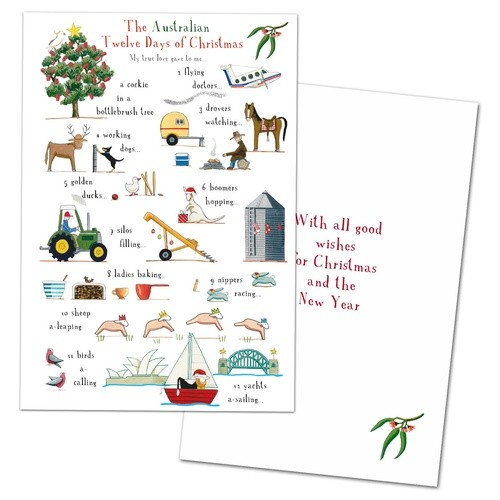 Red Tractor - The Australian 12 Days of Christmas Cards