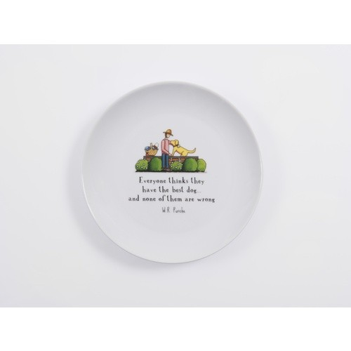 Red Tractor - Best Dog Porcelain Plate
