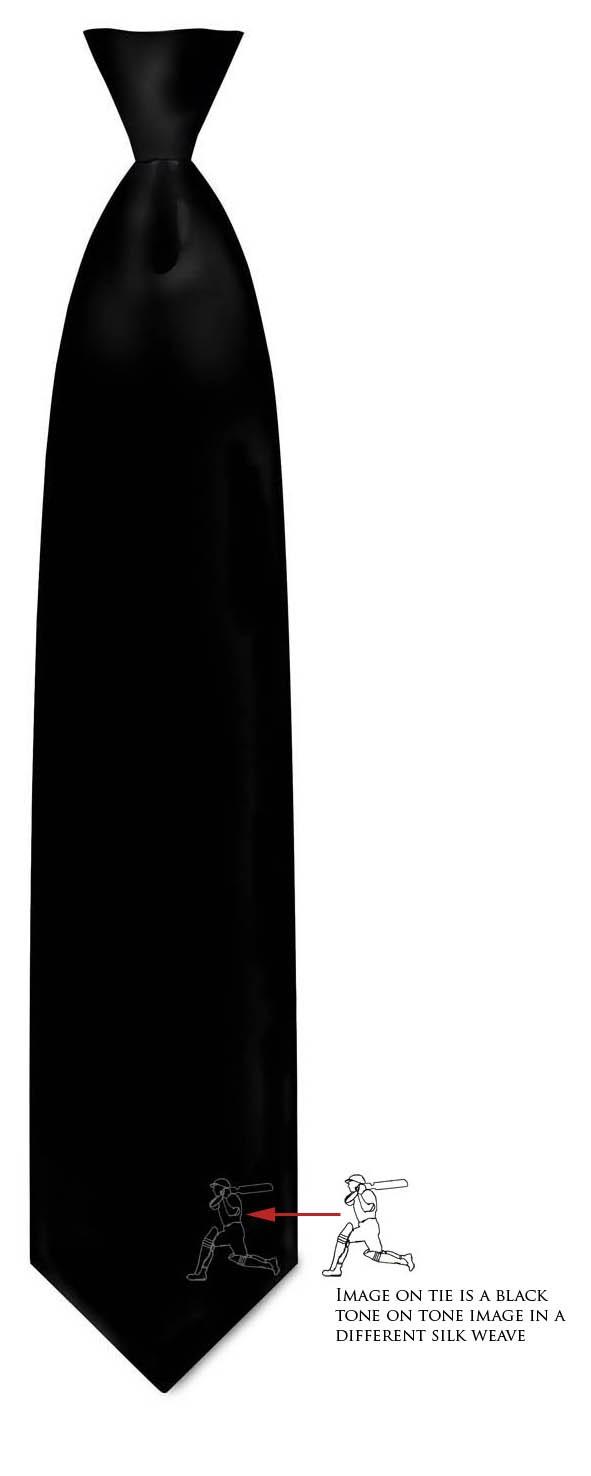 TIE - Black Silk Tie