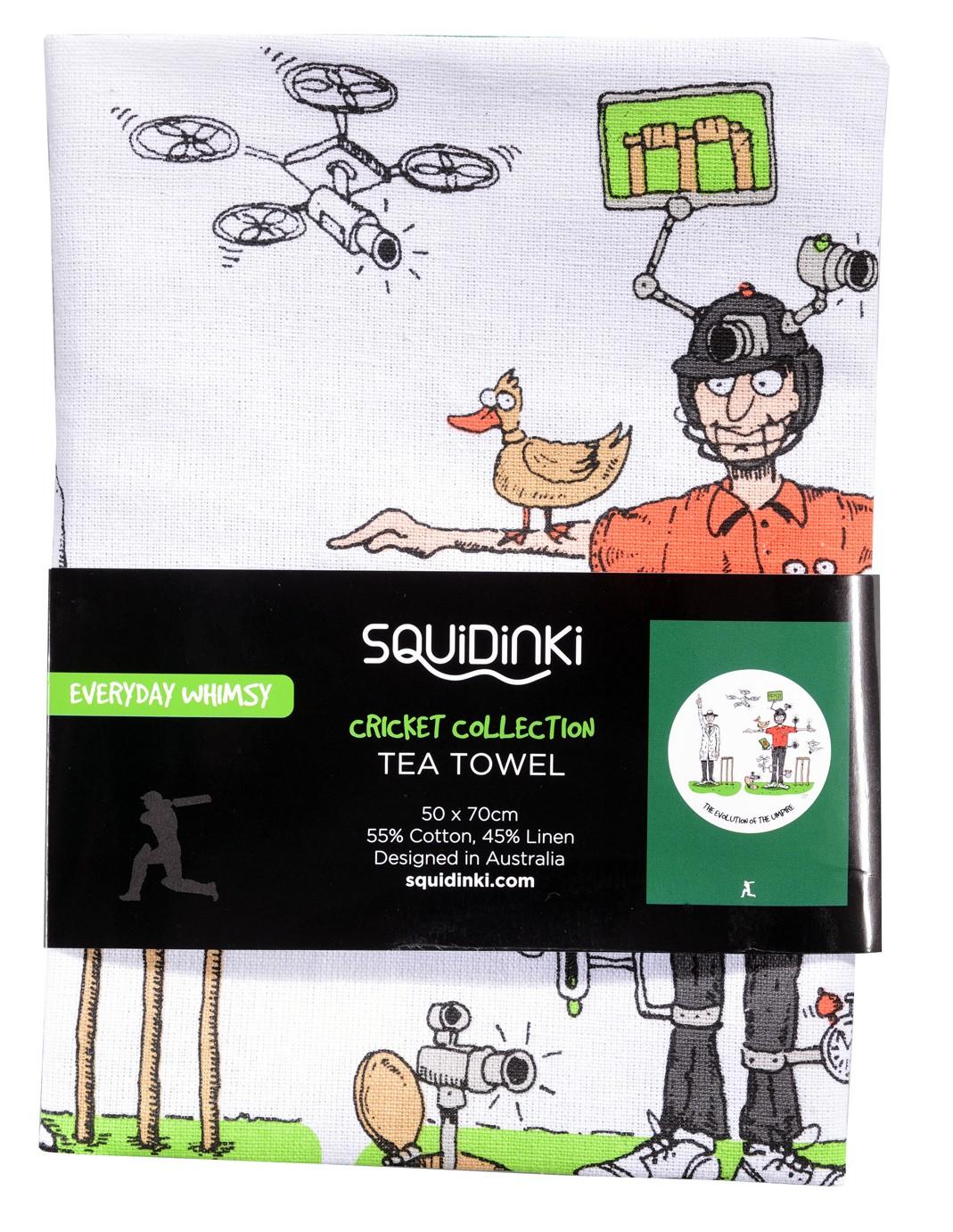 Squidinki - The Evolution of the Umpire Tea Towel