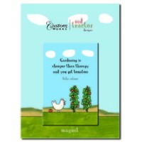 Red Tractor Garden Therapy Magnet