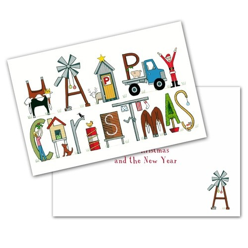 Red Tractor - Happy Christmas Cards