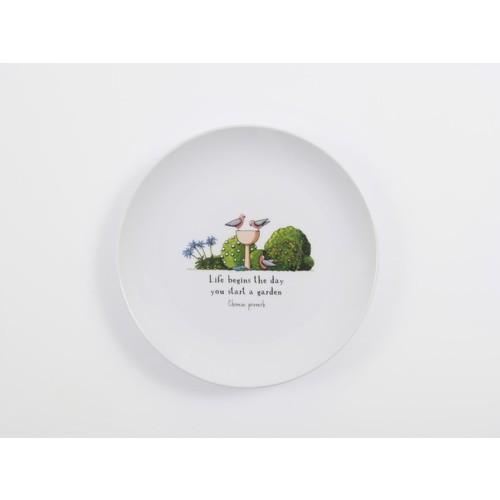 Red Tractor - Jacaranda Garden Porcelain Plate