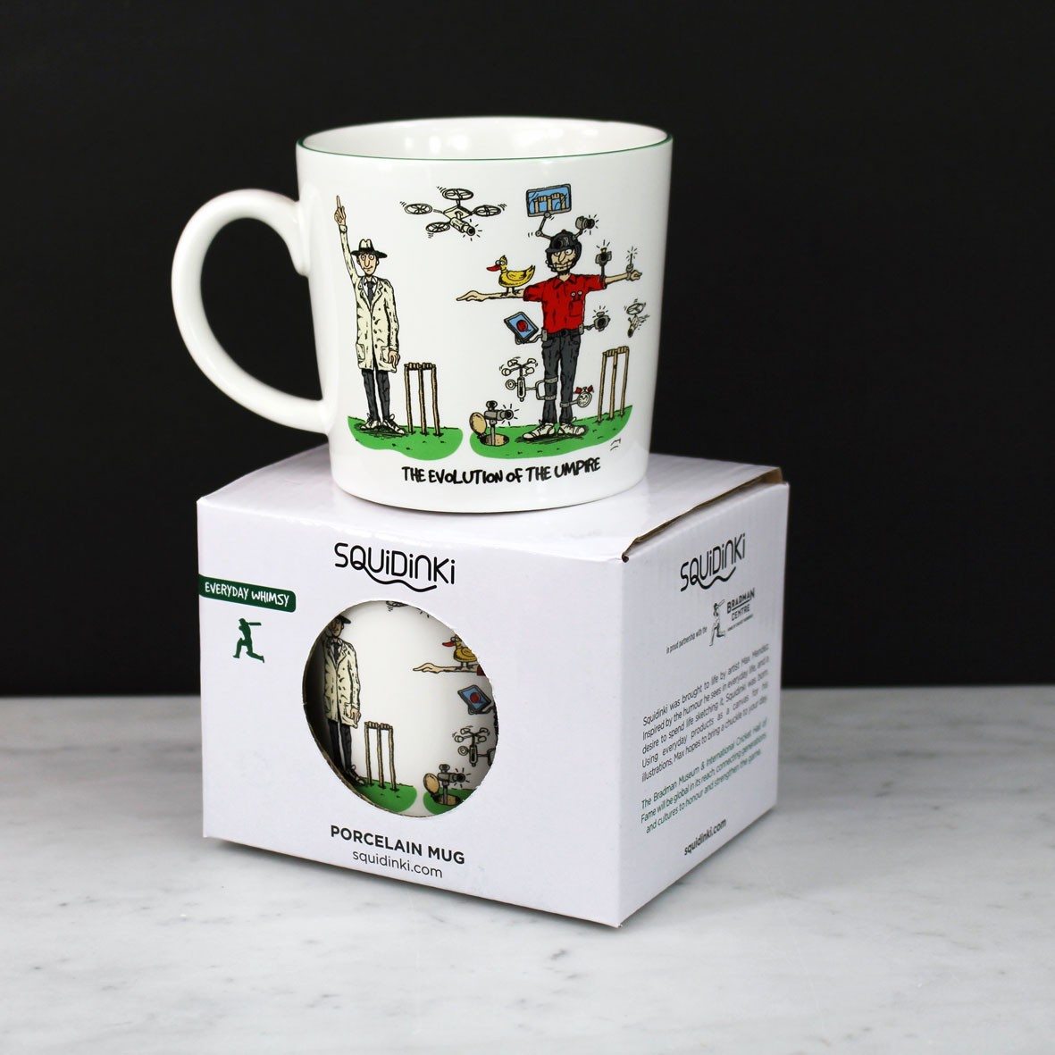 Squidinki Porcelain Mug - Evolution of the Umpire
