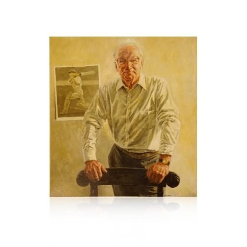 Sir Donald Bradman Portrait by Bill Leak (Unframed)