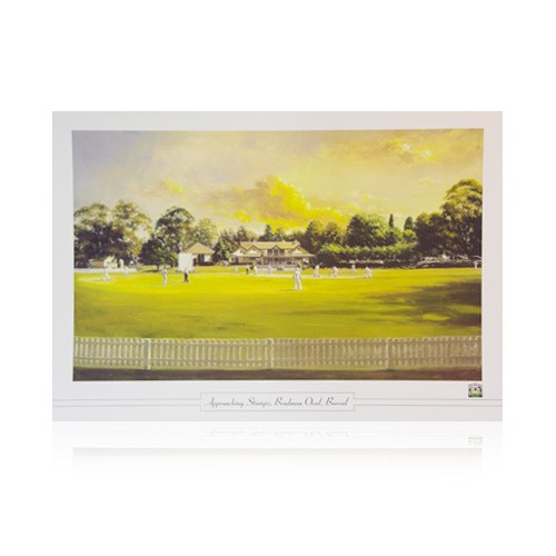 Approaching Stumps at Bradman Oval  Print by Dave Thomas