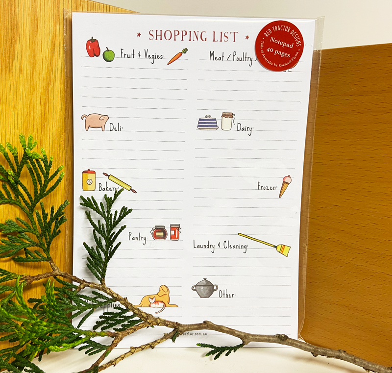Red Tractor - Magnetic Shopping List Notepad