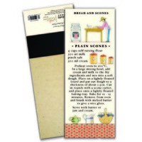 Red Tractor - Plain Scones Magnetic Shopping List