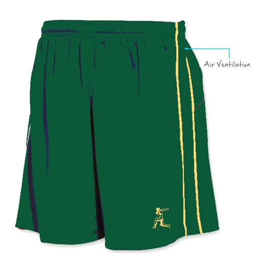 Green and Gold Training Shorts