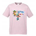 T-shirt - 'I Love Cricket' Light Pink
