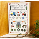 Red Tractor - Farm Sampler Greeting Card