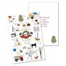 Red Tractor - Christmas in Australia Cards