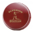 Bradman Superior - Red Leather Match Ball - 156g
