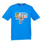 T-shirt - 'I Love Cricket' Cyan