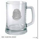 Cricket Themed Glass Mug