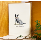 Red Tractor - Blue Cattle Dog Gift Card
