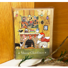 Red Tractor - Waiting for Santa Gift Card (with envelope)