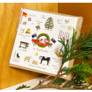 Red Tractor - Christmas in Australia Square Card (with envelope)