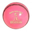 Cricket Ball branded Bradman Boundary - Pink Leather  Ball - 142g