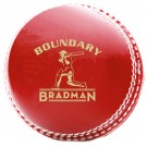 Bradman Boundary - Red Leather  Ball - 142g
